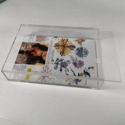 De tamaño personalizado transparente de plexiglás de acrílico cuadrado marco del cuadro de fotos