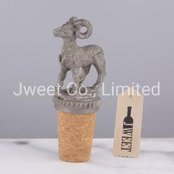 맞춤형 동물 판형 흘림 방지 와인 병 금속 코크 스토퍼