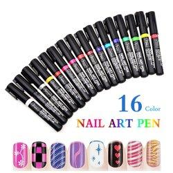 16 لون مسمار فنّ صورة زيتيّة قلم أداة مسمار عناية منتوجات لأنّ مسمار جميل