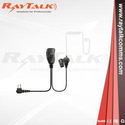 携帯無線電話のヘッドセットの監視キットのMotorola Kenwoodの対面ラジオのための音響の管の受話口のラペルマイクロホン