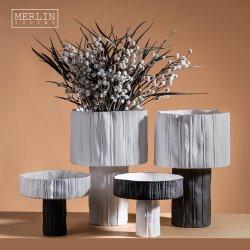 Fruitschaal met witte standaard Decoratieve Home Decoratieve keramische vaas