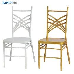 Design de moda Restaurante Evento casamento de metal de Empilhamento Cadeira Napoleão