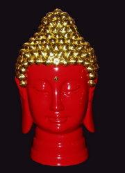 Filetage de la laque de la porcelaine Statue de Bouddha (TS0-01R)