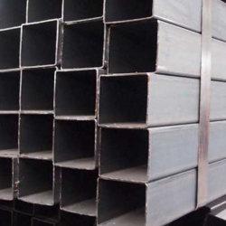 Caissons soudés en acier au carbone carrées et rectangulaires Tube noir en acier
