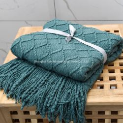 Rosca de acrílico Fashion Plaid cobertores atirar para a Primavera e Outono