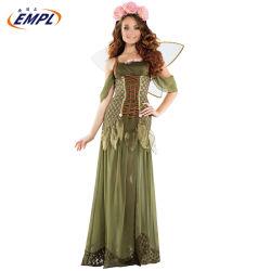 Cuento de hadas flor verde traje de Princesa Angel