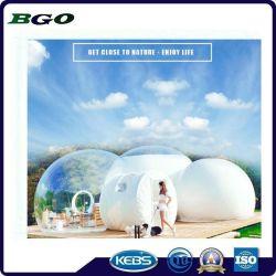 6m de diamètre dôme de l'hôtel tente avec salle de bains, chambre à coucher et couloir, tente de bulle gonflable transparent
