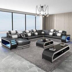 Functioneel LED modern Europees Design Leisure Home woonkamer meubilair Set originele leren sectiebank
