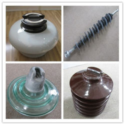 El aislante de alta tensión con la cerámica/porcelana, cristal, Composite, polímeros, caucho de silicona
