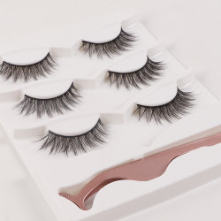 الشركة المصنعة الروسية 3D الحرير faux Mink مزيف اصطناعي مزيف فاخر رماد العين بالجملة تمديد العين بحجم الطّبيعيّ