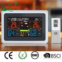 La pantalla a color fabricante Clima Termómetro digital con reloj atómico