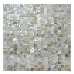 Mosaico madreperlaceo delle coperture della natura del pavimento della parete interna sulla maglia della fibra
