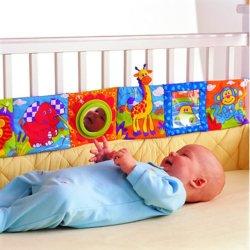 Tissu doux jouet livre bébés Activité chiffon ondulée à la main pour l'éducation