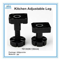 الأثاث المعدات ارتفاع قابل للتعديل خزانة البلاستيك ارتفاع ساق قدم ، مشابك للمطبخ أو الحمام