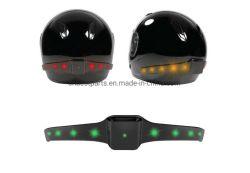 Drahtlose Bremse des Motorrad-Sturzhelm-LED und Drehung-Signal-Anzeiger-Sicherheits-Licht