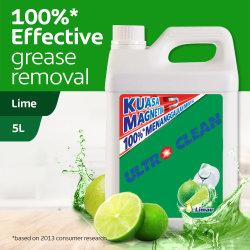5 l antibatterico liquido per lavaggio delle stoviglie in lime