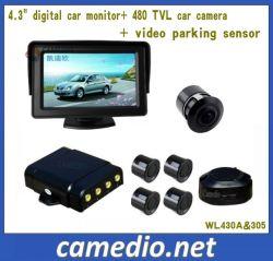4.3Inch espejo el Monitor del sistema de sensores de aparcamiento automático