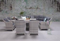 أثاث خارجي كبير الحجم للمنزل مع حديقة ومقاعد أريكة ذات مقعد ذو تعليق ومجموعة أثاث طاولة بولود