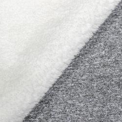 Tecidos de malha colado, 75D100%Melange de poliéster Jersey colados com têxteis tecidos Velo de coral de poliéster, laminado de duas camadas