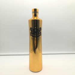 Elektronischer kundenspezifischer Wodka-Glasalkohol-Flasche mit Überwurfmutter-Masse-Flaschen für Whisky-Glasflaschen-Hersteller des Verkaufs-750ml
