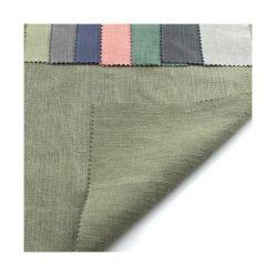 Dobby liso teñido algodón Lino Tejido Spandex Lch-0147