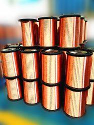 공장 판매 가격 ECCA, 모터 발전기를 위한 에나멜 처리된 구리 클래드 알루미늄 와이어