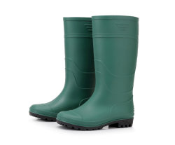 Stivali da pioggia in PVC da lavoro Green Neoprene Wellies uomo per fattoria
