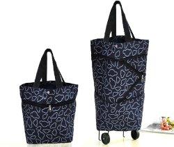 Sac shopping de pliage avec les roues Panier pliable de sacs de magasinage réutilisables