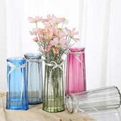 ガラスつぼのゆとりのオフィスのホーム装飾のための多色刷りの特定の設計されていた芸術の装飾的な花つぼ