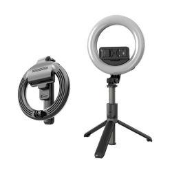 가벼운 램프를 가진 Selfie 휴대용 Foldable 확장 가능한 Monopod Bluetooth Selfie 지팡이