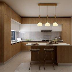 طلاء فاخر من الخشب اللون/أثاث خشبي/مطبخ أبيض حديث الطلاء الخزانة