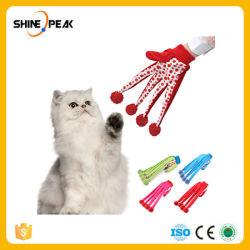 自由な出荷3カラー新しい方法ペット製品の美しい球ペットおかしいおもちゃのかわいいポルカドット猫のおもちゃスクラッチ手袋のおもちゃの赤いカラー