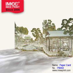 Chinês Imee Grand View Garden Saudação Oco Criativo Cartão Museu de Arte da criação cultural cupão de oferta