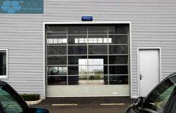 Todo eléctrico comercial de plástico transparente de vidrio claro PC Generales Garaje seccionales correderas Puertas para el alquiler de coche Shop / tiendas