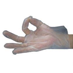 PE noir/rose/jaune/transparent des gants