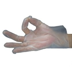 Schwarzes/transparentes/Gelb/rosafarbene Handschuhe PET