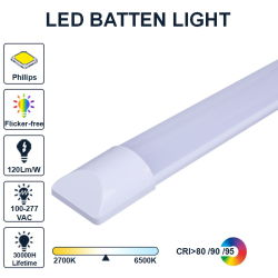 18W 36W Flicker-Free Integrated Linear Slim LED 튜브 좁은 조명