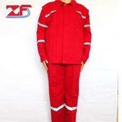 Uniformes de seguridad de manga larga traje Peotective Work Shop antiestático cinta reflectante de alta calidad al por mayor ropa ropa de trabajo de minería de fábrica de mecánica de la primavera