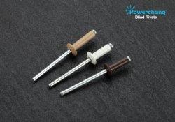 Remaches ciegos de tipo abierto la cabeza domo de aluminio / acero