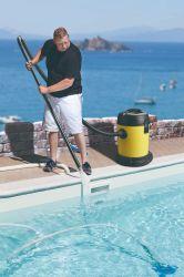 مكنسة كهربائية للاستخدام الجاف والمبتل مع حوض السباحة
