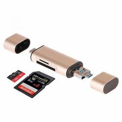 Nome del prodottoOEM Aluminium Alloy USB 3.1 adattatore OTG scheda SD TF multifunzione velocità di lettura e scrittura periPhone: 18MB/14MB/Sfor USB: 40MB/15MB/Sweigt30