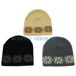 Custom acrylique tricot jacquard Hat