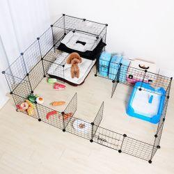 Gato mascota de la jaula del conejo de la puerta de aislamiento de costura de cerco 0284 jaula