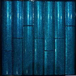 Venta caliente en forma de pera en polvo de la serie Bamboo mosaico de cristal azul