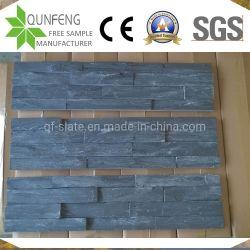 muur van de Richels van de Lei van het Comité van de Steen van 15*60cm Pizarra China de Natuurlijke Zwarte