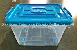 Doos van de Plastic Container van het Ontwerp van Kerstmis van de Opslag van het huis 40L de Duidelijke