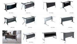 Tapa de cristal o madera tabla de la Oficina Ejecutiva pata metálica de acero