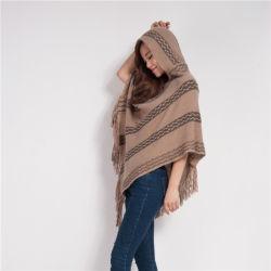 L'automne et hiver chandails tricotés avec des capuchons, Couleur Pure pull-overs, capes et capes