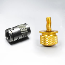 真鍮のステンレス鋼のナーリングの部品