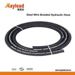 Tresse de fil en acier renforcé le flexible hydraulique